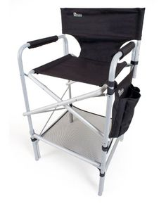 Black Friday 2014 Earth Heavy Duty VIP Tall Aluminum Director's Chair from Earth Cyber Monday Cool Chairs, Patio Chairs, Outdoor Chairs, Outdoor Furniture, Bar Chairs, Face Painting Designs, Painting Patterns, Body Painting, Makeup Artist Chair
