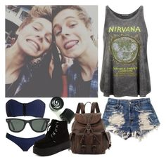 """""""Camping with Luke"""" by prettyin-punk ❤ liked on Polyvore featuring Prince Peter, Levi's, Lisa Marie Fernandez, Frye, Ray-Ban and punks"""