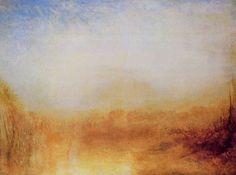 Turner, Joseph Mallord William: Landschaft mit Fluss und Bergen in der Ferne (Landscape with River and Distant Mountains)