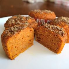 These sweet potato muffins are similar in flavor to pumpkin muffins, but made with fresh yams. They are SO moist, delicious, and packed with nutrition.