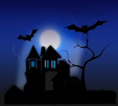Illustration of a haunted house : Free Stock Photo