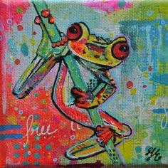 Froggie 10x10cm janet edens
