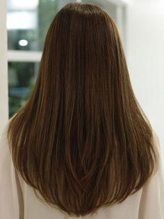 Haircut For Long Straight Hair Back View Stupendous Layered Haircuts Hairstyles With Bangs Side Stock Photos HD V Shaped Haircut, U Shaped Hair, V Shaped Layered Hair, Layered Cuts, Round Haircut, U Haircut, Haircut Long Hair, Long Hairstyle, Woman Haircut