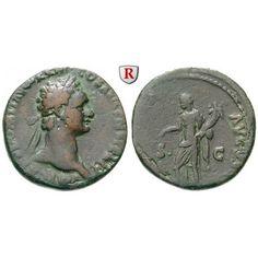 Römische Kaiserzeit, Domitianus, As 92-94, ss: Domitianus 81-96. Kupfer-As 26 mm 92-94 Rom. Kopf r. mit Lorbeerkranz IMP CAES DOMIT… #coins