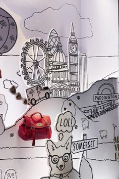 """MadeWithLove"" by Mulberry at Harrods London England, pinned by Ton van der Veer"
