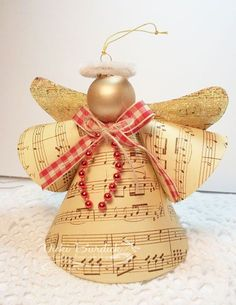 Country Christmas Angel Ornament: