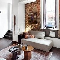 Mixed Contemporary Rustic Toronto Loft Apartment / Lighting Interior Design  Inspiration, Home Interior Design,