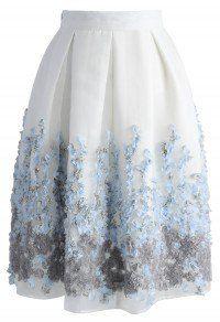Lavender Paradise Organza Pleated Skirt – Retro, Indie and Unique Fashion – New York City Fashion Styles White Pleated Skirt, Purple Skirt, White Skirts, Led Dress, Dress Skirt, Modest Fashion, Unique Fashion, Fashion Fashion, Chicwish Skirt
