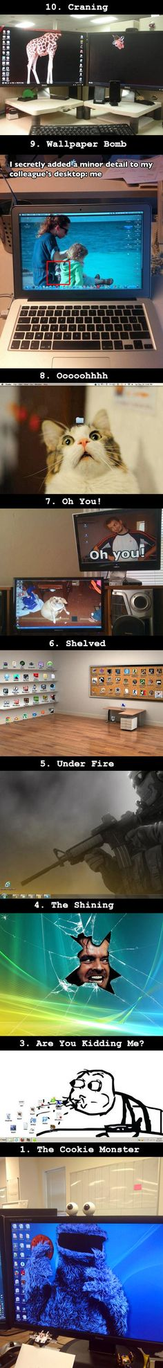 Here are some cool and funny ways to make your computer desktop stand out.