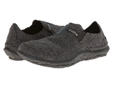 Cushe Wool Slipper Shoe. Dark Grey.
