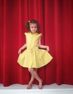 yellow polka dot DIY dress