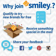 Join me on the new Smiley360, an online community of influential consumers who try products & experiences for free and share their opinions. Check out the NEW Smiley360.com!