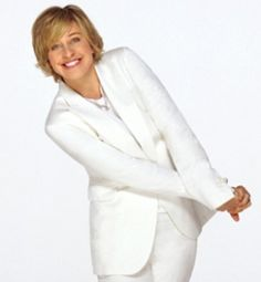 Ellen DeGeneres, comedian, made television history in 1997 when her sitcom character came out as a lesbian. She played a big part in the movement of gays being accepted in today's society. She has a unique way of bringing humor and fun to everything she does. Since her sitcom days, she hosts the widely popular Ellen Show, which since it's debut in 2003 has won 32 Daytime Emmy Awards. She also has starred in films, was a judge on American Idol, and has hosted both the Emmys and the Oscars.