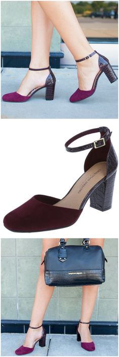 Complete your work-to-weekend look with the Millie block heel from @Christia