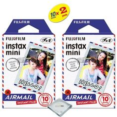 Fujifilm Instax Mini 8 Instant Film 2PACK 20 Sheets For Fujifilm Instax Mini 8 Cameras  Airmail * BEST VALUE BUY on Amazon