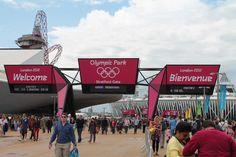 Entree van het Olympic Park  - we were there too!