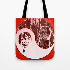 Yin Yang Horror - dark print Tote Bag by artgaragefinland Horror Scream, Psychotic, Printed Tote Bags, Backpack Purse, Yin Yang, Monsters, Pop Art, Scary, Totes