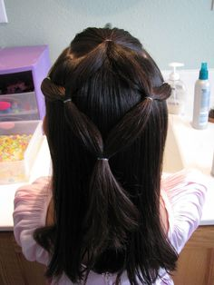 Hair Ideas! I feel so bad for my little girl, 'cause I'm just horrible at doing her hair. This helps :)