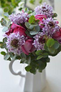 2014年母の日フラワーギフト**Bouquet de Paris バラとユーカリが香る、パリスタイルのふわふわブーケ
