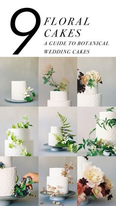 Flowers that will last all day on your wedding cake... guide by Jen Huang and Studio Mondine