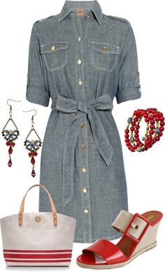 Love the dress! Love the versatility of the dress and Chambray is ALWAYS a favorite