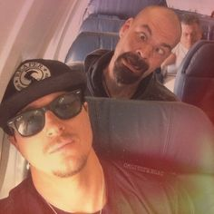 """Okay, I'm Zak in this pic and my best friend @amazingpinkie is Aaron - Aaron is my spirit animal that makes no sense but whatever - #aarongoodwin…"""