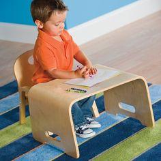 Kids' Steam Bent Wood Desk and Chair Jupiter Workshop