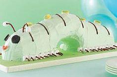 JELL-O Swirled Caterpillar Cake recipe