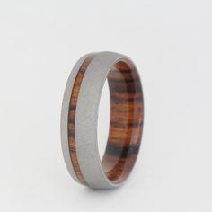 Sandblasted Wood Ring #jewelrybyjohan #wood_rings #wooden_band