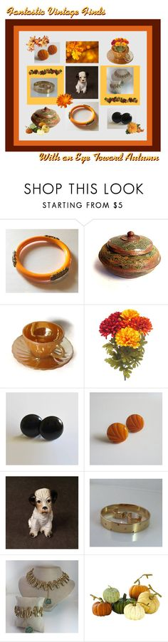 """""""Fantastic Vintage Finds"""" by anna-ragland ❤ liked on Polyvore featuring Anchor Hocking, Home Decorators Collection and vintage"""