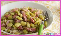 nice Ham Hocks With Lima Beans