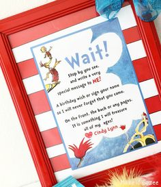 Dr. Suess Birthday Party Free Dr. Suess Guestbook printable