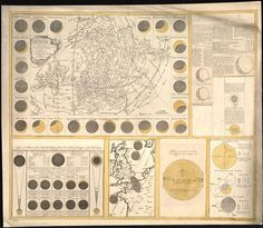"""""""The geography of the great solar eclipse of July 14 MDCCXLVIII: exhibiting an accurate map of all parts of the Earth in which it will be visible, with the North Pole, according to the latest discoveries,"""" 1748."""