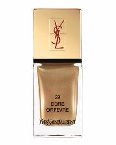 C1JF1 Yves Saint Laurent La Laque Couture Nail Polish, Dore Orfevre