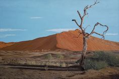 """""""Sossusvlei - Namibia"""" - 910 x 610 mm - Oil on canvas. T'Kay - South African Artist"""