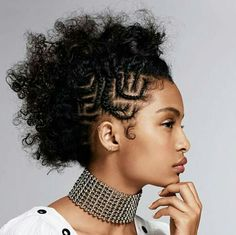 25 Side Braid Hairstyles Which Are Simply Spectacular - Wild About Beauty Geometric Loop Cornrows On Faux Hawk Side Braid Hairstyles, Teen Hairstyles, Trending Hairstyles, Black Girls Hairstyles, Greaser Hairstyles, Natural Mohawk Hairstyles, Haircuts, Cornrows, Wild About Beauty