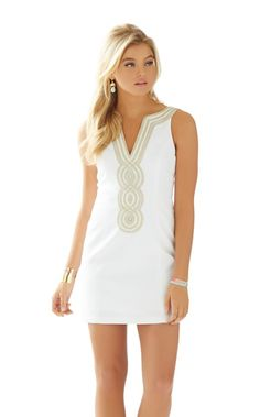 Valli Shift Dress - Lilly Pulitzer Resort White- graduation