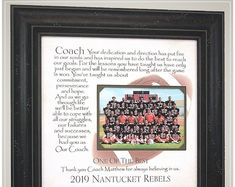 Football Coach Thank You Gift from Team, Handmade Football Team Gifts from PhotoFrameOriginals Custom Photo Mats Anniversary Party Decorations, 50th Anniversary Gifts, Parents Anniversary, Anniversary Parties, Wedding Gifts For Parents, Wedding Day Gifts, Bride Gifts, Gifts For Father, Football Team Gifts