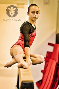 Gymnast on Balance Beam  Leigh W Photography