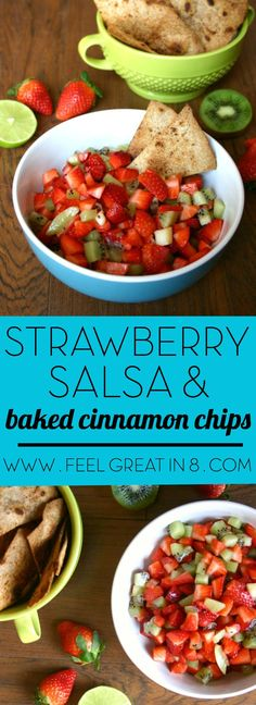 Even your kids will never guess that this yummy sweet Strawberry Salsa & Baked Cinnamon Chips make a healthy real food snack!