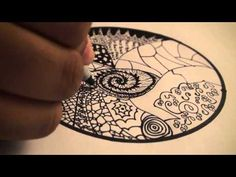 Lets Draw - 001: How to Draw Zentangles (Doodle Art) DrawCartoonsEasy [HD]!
