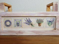 Kisten & Boxen - Holzkiste Pflanzkiste Lavendel mit Henkel - ein Designerstück von ArtByYvonne bei DaWanda