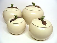 1950s 4 piece canister set