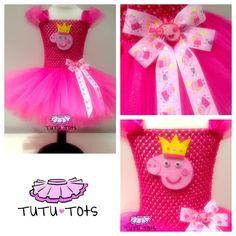 Peppa pig tutu dress from tutu tots