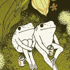 Photo Wall Collage, Collage Art, Image Swag, Arte Indie, Frog Art, Arte Obscura, Illustration Art, Illustrations, Cute Frogs