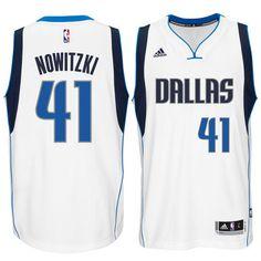 8db0db9b1 Dirk Nowitzki Dallas Mavericks adidas Swingman climacool Jersey - White