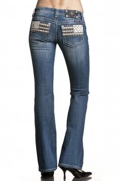 American flag leather Miss me jeans.