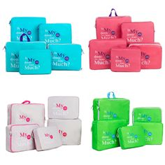 5Pcs Set Travel Storage Bags Waterproof Clothes Packing Cube Luggage Organizer #HTTB