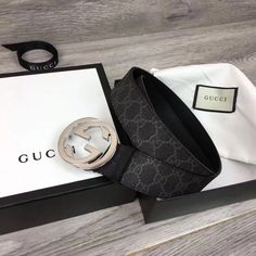 6a82c2569ef835 (99.99% NEW) Gucci men's belt G buckle Never Used 110cm #fashion #