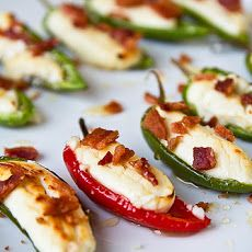 Goat Cheese Honey & Bacon Stuffed Peppers - Will do this with mini bells